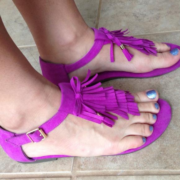 h&m fringe sandals