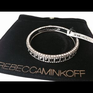 Rebecca Minkoff Flipped CZ&Pave Bangle Bracelet