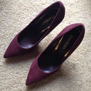 Burgundy stiletto pumps - size 5 - Bebe