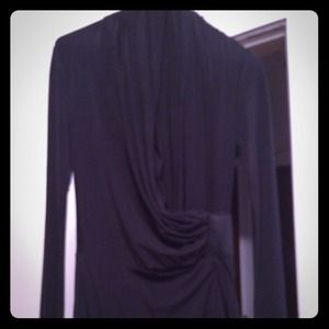 All Saints wrap dress elegant Drape Dark Beauty