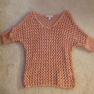 Salmon color/glitter rope allusion shirt SO CUTE!