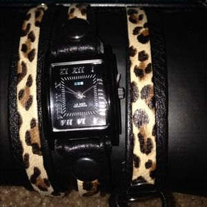 lamer collection Accessories - LaMer Collection Leopard Wrap Watch