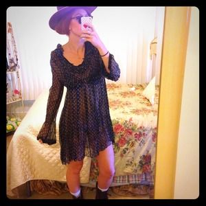Vintage See-Thru Long Sleeved Dress