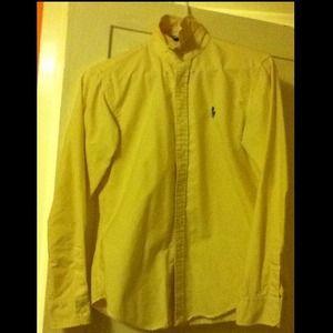 Polo Ralph Lauren Yellow Stripe Oxford