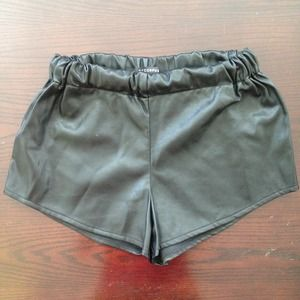 Bycorpus faux leather shorts