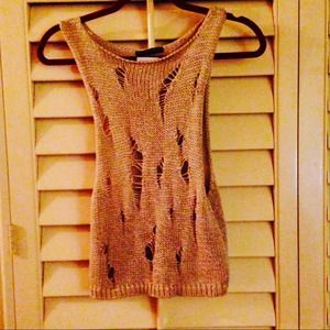 Brandy Melville open knit sleeveless sweater