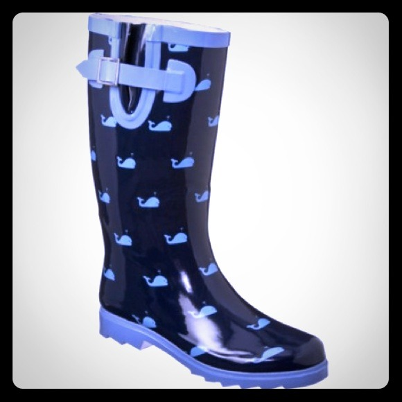 Merona - ☔   Blue Whale Rain Boots 🐳 Modcloth Esque from ...