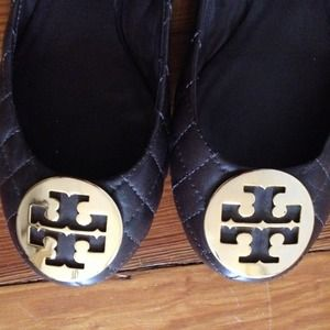 REDUCED! TORY BURCH quilted chocolate brown flats