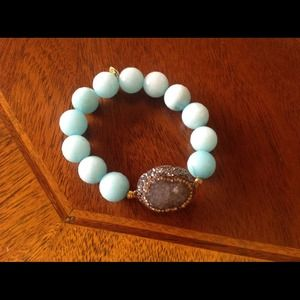 Jewelry - Druzy and turquoise bracelet
