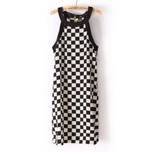 HOST PICK! BNWOT Zara Checkerboard Dress