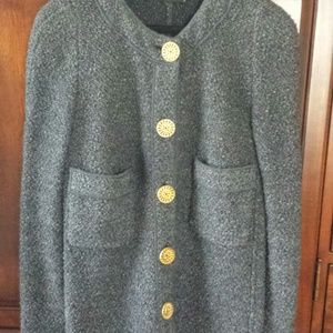 Original Chanel/Butique Grey jacket / wool