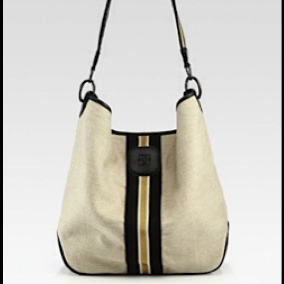 Longchamp Beige Bi Goa Canvas Leather Hobo Bag NWT a774d3873f810
