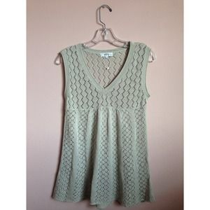 Baby doll knitted top