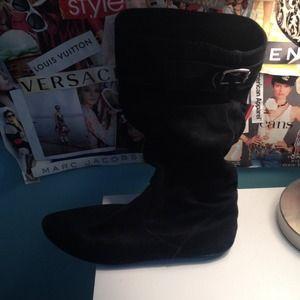 Black Suede Steve Madden Boots