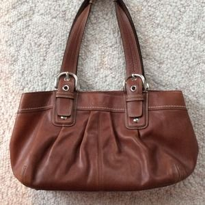 Brown authentic coach purse
