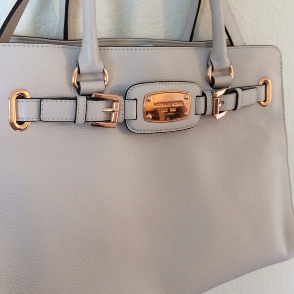 942eedde2c Used about Michael Kors Hamilton Grey purse with rose gold MICHAEL Michael  Kors Bags - Vanilla white Michael kors rose gold purse ...