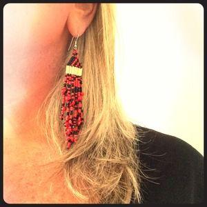Jewelry - Inca's Good Luck Seed: Wayruro Peruvian Earrings