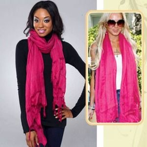 Love Quotes Scarf Magnificent 36% Off Love Quotes Accessories  Hot Bubblegum Pink Love Quotes