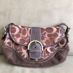 Brown classic coach purse