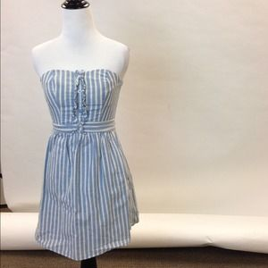 Mossimo Dresses & Skirts - Casual Pinstripe Strapless Day Dress
