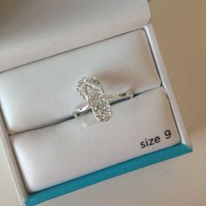 Silver Flip Flop Ring