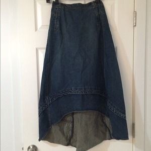 GAP Dresses & Skirts - High and Low Jean Skirt