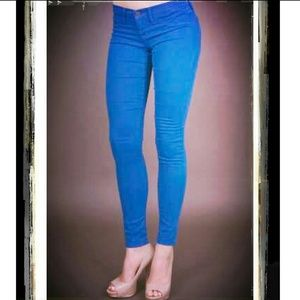 Flying Monkey bright blue skinny jeans