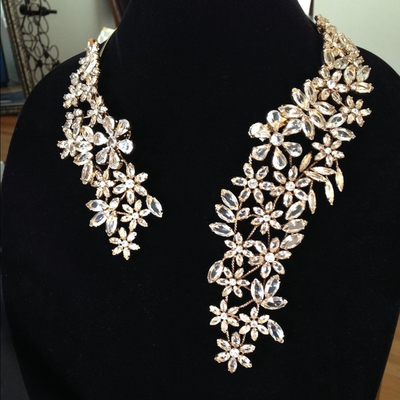 58% off BCBG Jewelry - BCBG crystal chandelier necklace from ...