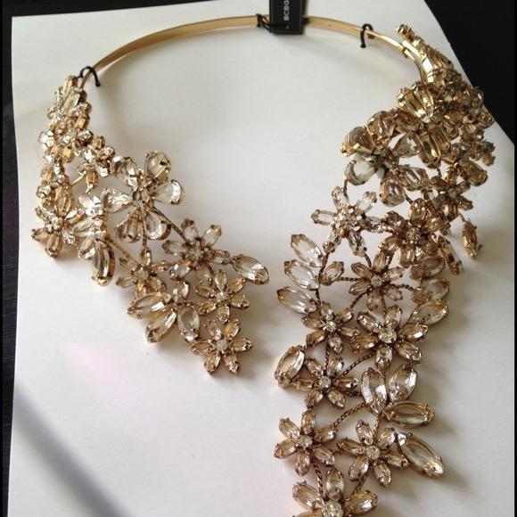 58 bcbg jewelry bcbg chandelier necklace