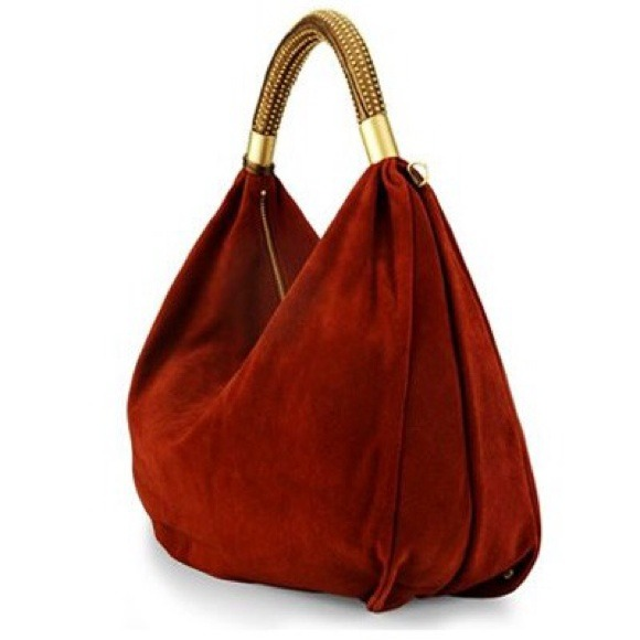 89% off Kenneth Cole Handbags - Kenneth Cole Red Suede Hobo Bag ...
