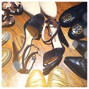 Miu Miu Shoes - MEGA SALE Miu Miu Black Sequin Heels!