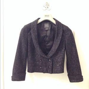 Armani exchange cropped jacket