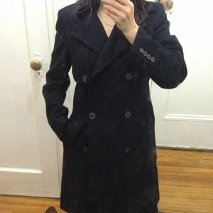 J Crew black wool coat