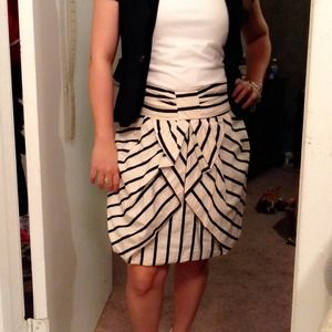Eva franco stripe skirt.