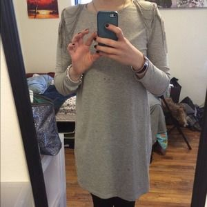 H&m grey dress with chain sleeves