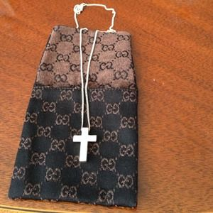 Authentic Sterling Silver Cross Necklace!