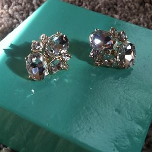 Gold and diamond studded earrings