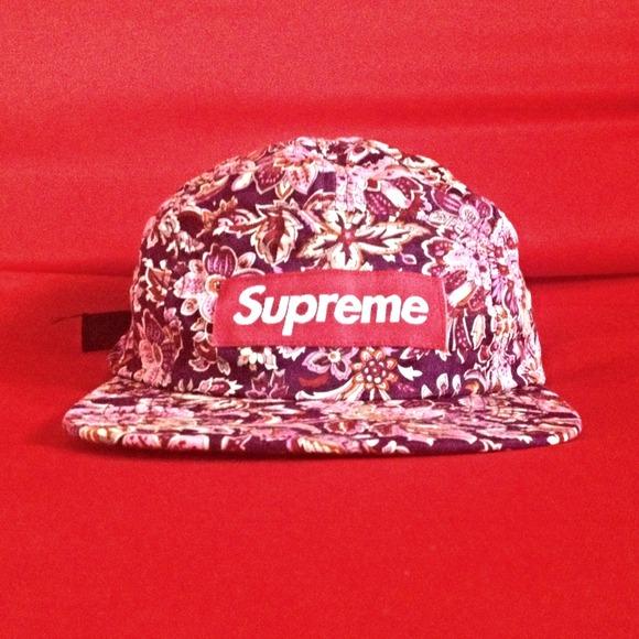 Supreme 5 panel floral hat. M 52f3da6fb539e41a5101ecc5 058020f60d4