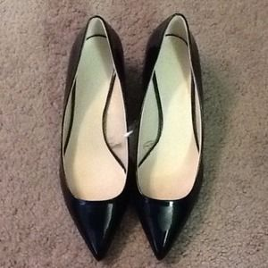 Zara Basic Pointed kitten heel dark blue size 6.5