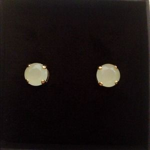 J. Crew Jewelry - J. Crew Bright Stone Stud Earrings in Mint
