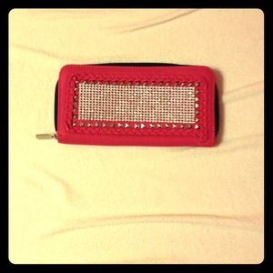 Clutches & Wallets - Studded pink wallet