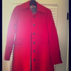 JCREW Metro Coat Red 00 with Thinsulate