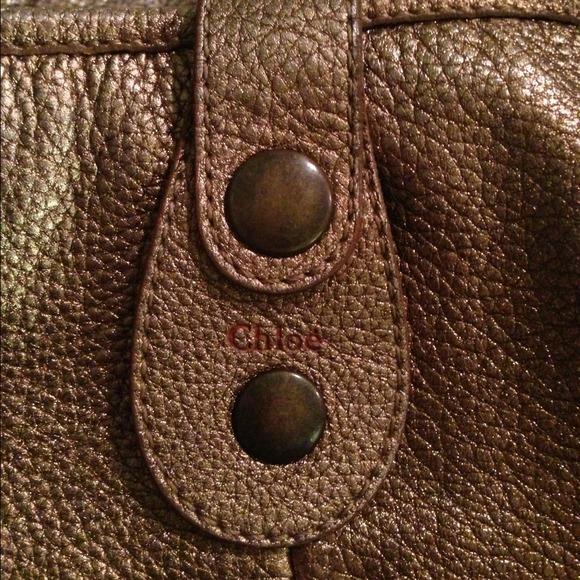 50% off Chloe Handbags - Chloe Silverado gold metallic leather ...