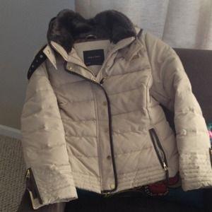 Zara beige short puffer coat-Winter 2013