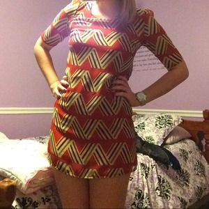 RESERVED Francesca's Geometric Print Dress