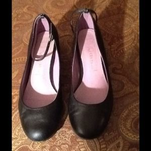 REDUCED Jeffrey Campbell Black Leather Wedges 7M
