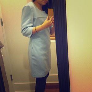 Dresses & Skirts - Brand new Blue warm dress w pockets