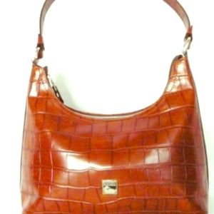 Dooney & Bourke Cognac Leather Hobo Bag