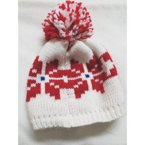 Xhilaration Outerwear - TARGET 💗 RED WHITE POM BEANIE
