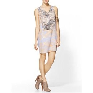 NEW Lavender Pastel Auzra Print Shift Dress